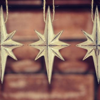 Wooden Christmas tree decorations – Eight-pointed Star