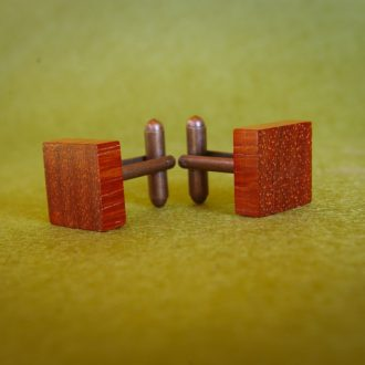 Wooden cuff links Padouk square