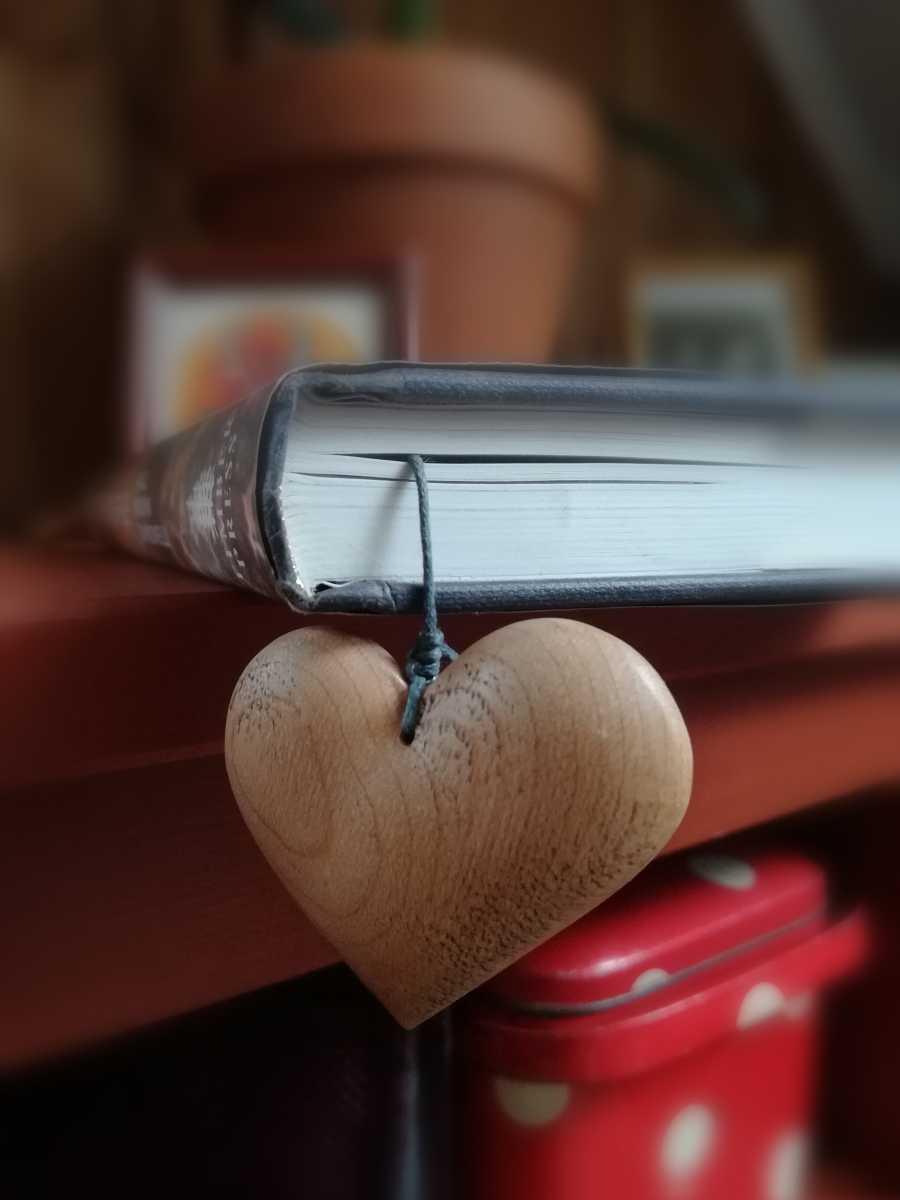 Medinis knygos skirtukas Širdutė