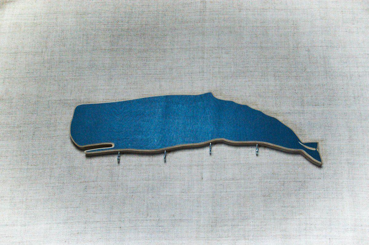 Raktų kabykla su kreidine lenta Banginis