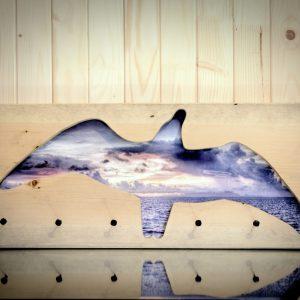 Kabykla ant sienos - fotopaveikslas Žuvėdros skrydis