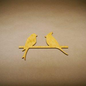 Medinė sienos dekoracija 2 paukščiai