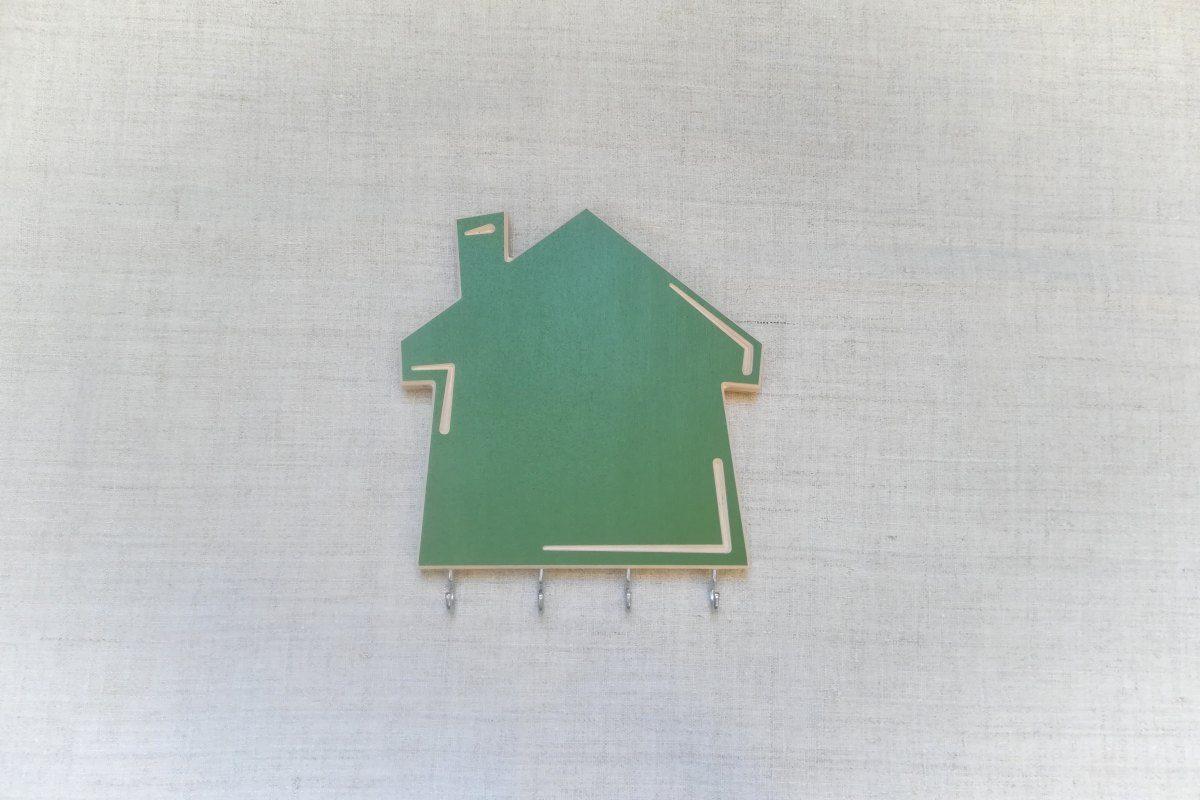 Raktų kabykla su rašymo lenta Namelis