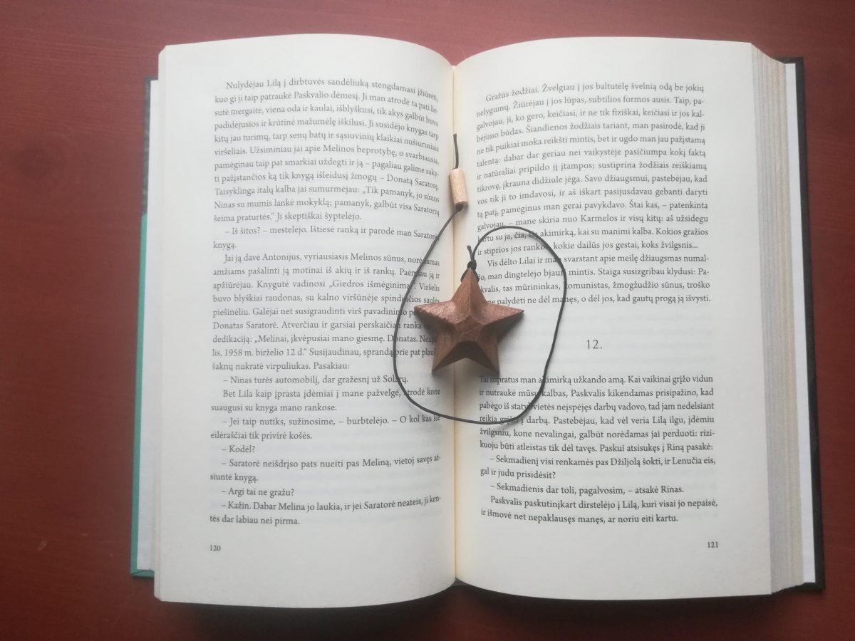 Medinis knygos skirtukas Žvaigždė
