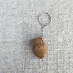 Medinis raktų pakabukas Pelėdžiukas