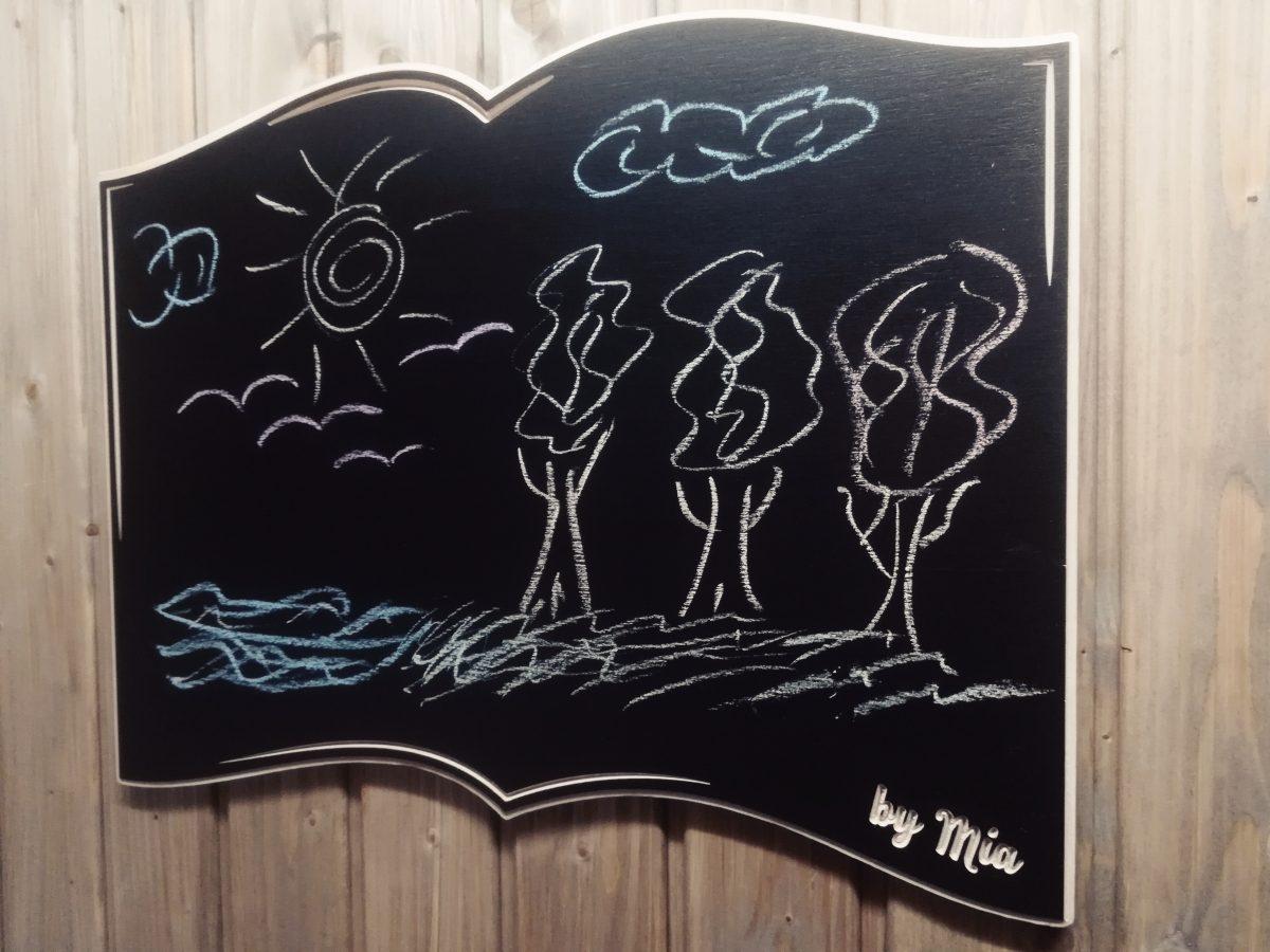 Personalizuota kreidinė piešimo lenta