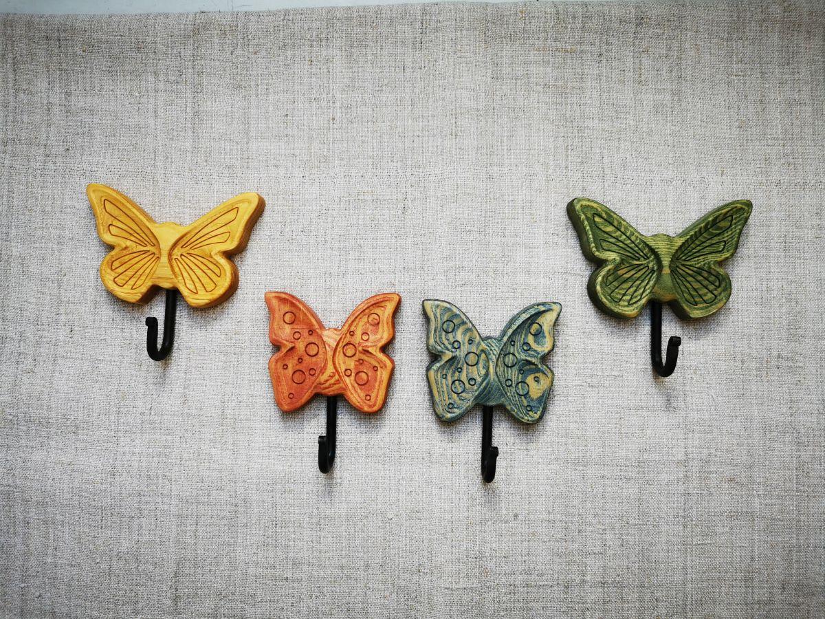 Sieninis kabliukas Spalvotas drugelis