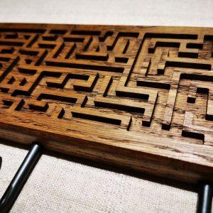 Ąžuolinė rūbų kabykla Labirintas