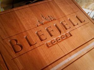 Blefjell Lodge iškaba
