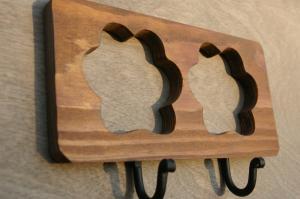 Dvivietė medinė kabykla Pėdutė